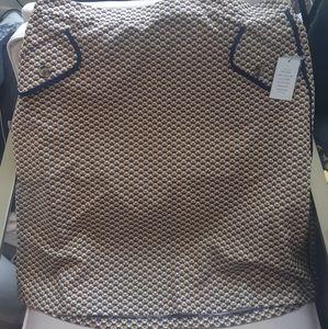🦄 3/$60 Eloquii navy yellow print skirt nwt 20